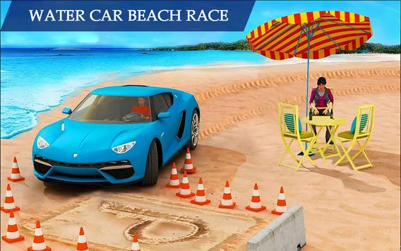 Water Surfing Floating Car Racing Game 2019 скриншот 4