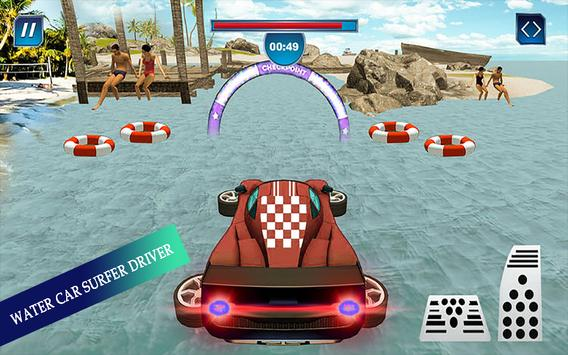 Water Surfing Floating Car Racing Game 2019 скриншот 7