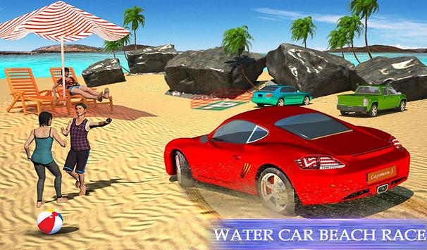Water Surfing Floating Car Racing Game 2019 скриншот 9