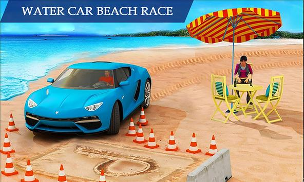 Water Surfing Floating Car Racing Game 2019 постер