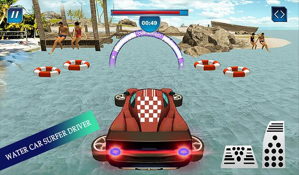 Water Surfing Floating Car Racing Game 2019 скриншот 11