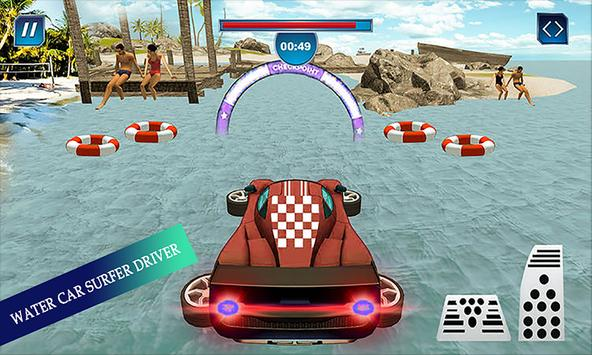 Water Surfing Floating Car Racing Game 2019 скриншот 3