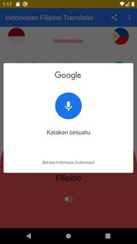 Indonesian Filipino Free Translator screenshot 1