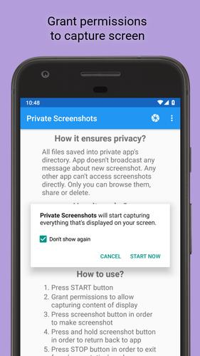 Private Screenshots for Android - APK Download