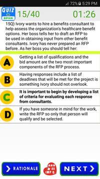 SPHR Human Resources Exam screenshot 15
