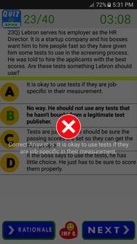 SPHR Human Resources Exam screenshot 11