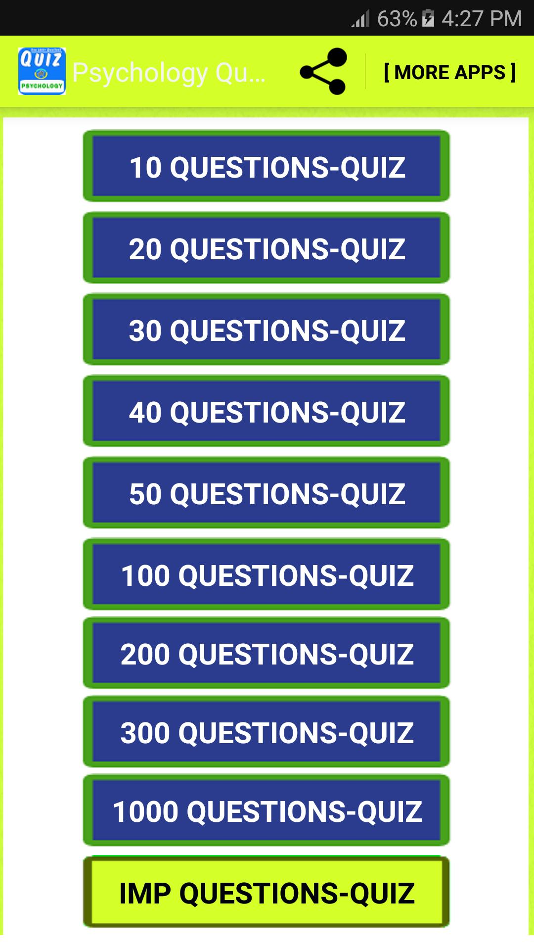 Psychology Quiz Questions for Android - APK Download