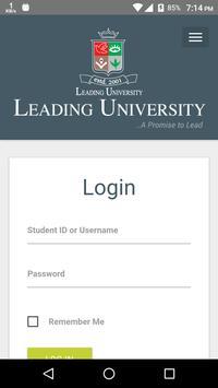 Leading University poster