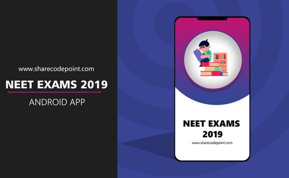 Entrance NEET Exam 2019 poster
