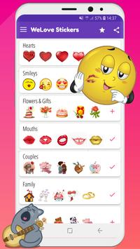 💚 WeLove : love stickers (WAStickerApps) screenshot 2