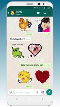 💚 WeLove : love stickers (WAStickerApps) screenshot 1