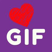 💞 GIF Animierte Liebes-Sticker. Spezialpaket Pack Zeichen
