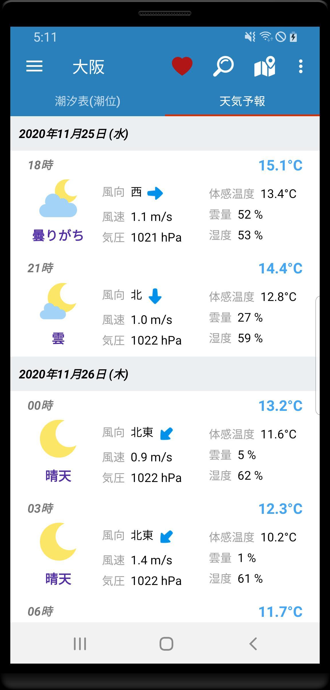予報 今日 の 天気