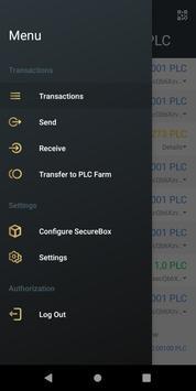PLC Wallet スクリーンショット 1