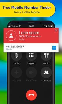 True Mobile Number Finder - Track Caller Name screenshot 1