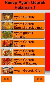Resep Ayam Geprek poster