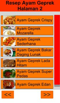 Resep Ayam Geprek screenshot 1