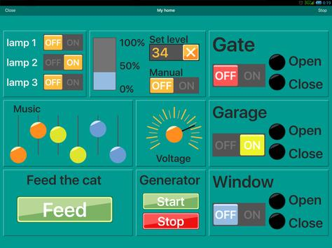 RemoteXY: Arduino control syot layar 6