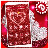 Shiny Red Diamond Love Theme icon