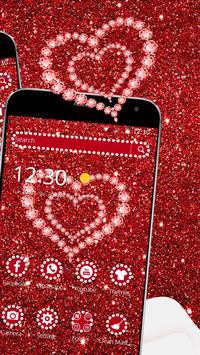 Shiny Red Diamond Love Theme screenshot 2