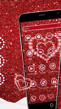 Shiny Red Diamond Love Theme screenshot 5
