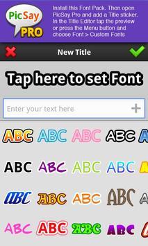 PicSay Pro Font Pack - B screenshot 1