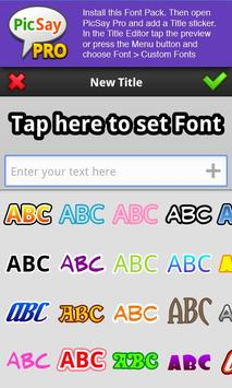 PicSay Pro Font Pack - A screenshot 1