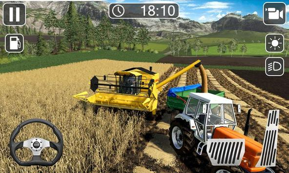 Heavy Tractor Farmer Sim - Cargo Truck Transport screenshot 2