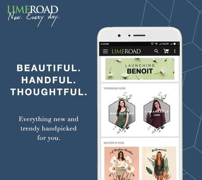 LimeRoad Online Shopping App poster