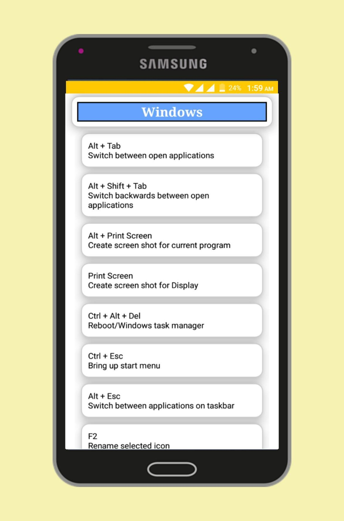 Computer Shortcut Keys for Android - APK Download