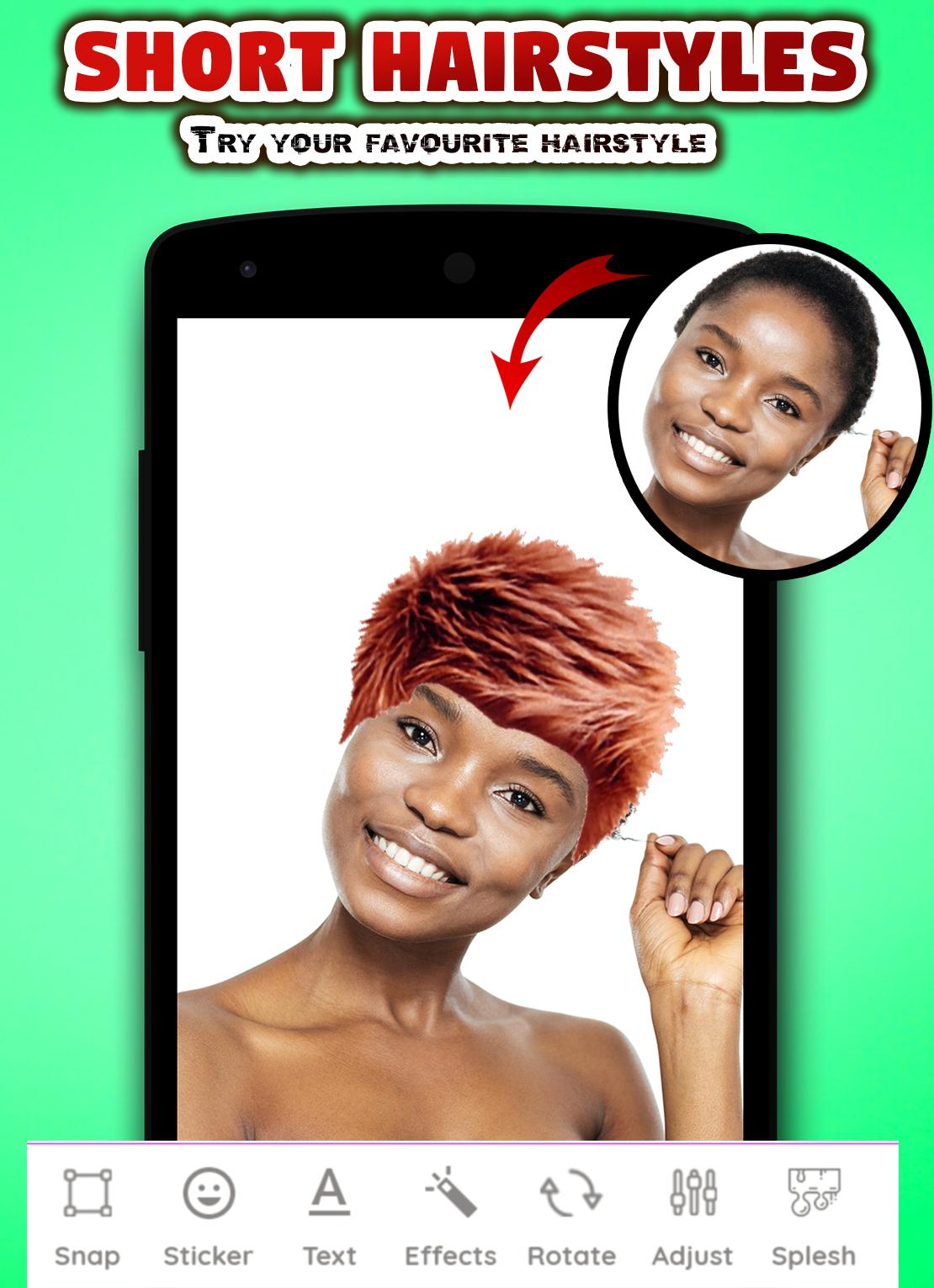 Short Hair Hairstyles For Women Photo Editor for Android - APK