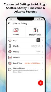 ShotOn Stamp on Gallery: Add Shot On Tag to Photos screenshot 2