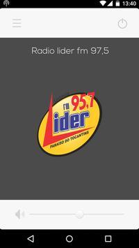 Rádio lider fm 95,7 poster