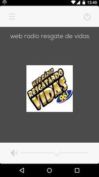 Web Rádio Resgate de Vidas screenshot 1