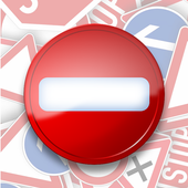 Trafic and road signs icon