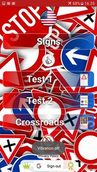 Trafic and road signs poster
