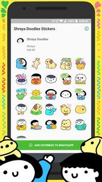 shreyadoodles Sticker Pack for WhatsApp poster