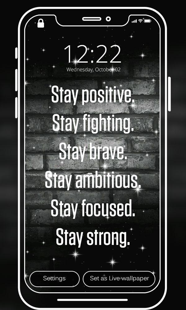 Motivational Quote Live Wallpapers For Android Apk Download