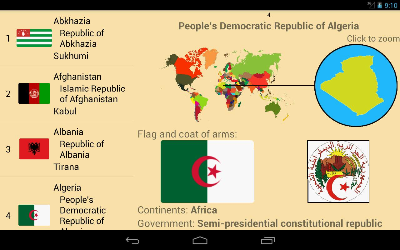 World's Countries & Capitals Quiz Game for Android - APK