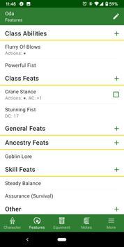 Character Sheet for any RPG screenshot 2