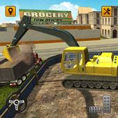 Excavator Construction Sim 2019 - City Building 3D icon