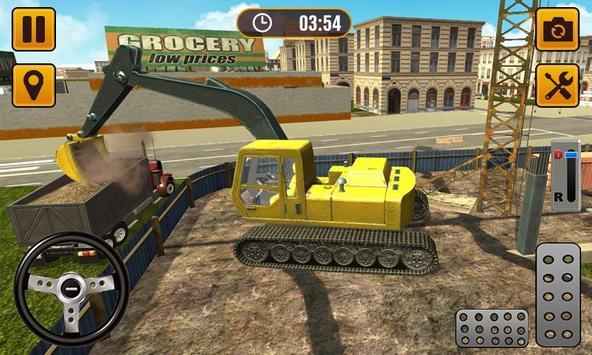 Excavator Construction Sim 2019 - City Building 3D screenshot 1