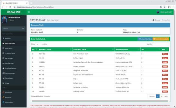 SIAKAD IAIS Sambas screenshot 7