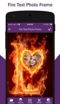 Fire Text Photo Frame screenshot 5