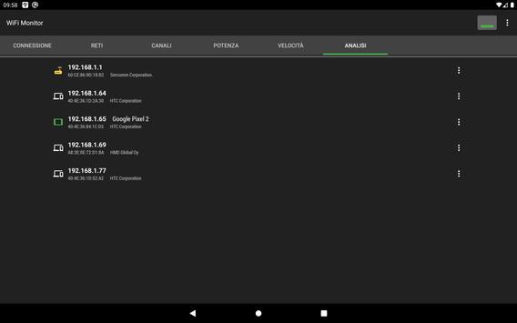 9 Schermata WiFi Monitor