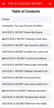 The 21 Success Secrets of Self-made millionaires poster