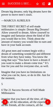 The 21 Success Secrets of Self-made millionaires screenshot 1