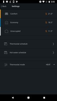 Siemens Smart Thermostat RDS screenshot 1
