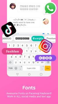 Facemoji Emoji Keyboard:Emoji Keyboard,Theme,Font 截图 3