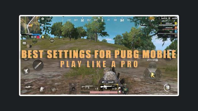 settings for Pubg Mobile - sensitivity & Control poster
